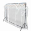 3ft Clothes Rail Cover in Clear Plastic with Zips