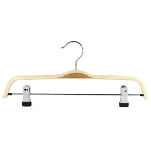 37cm scandi chic wooden trouser clip hanger 402 695 front view