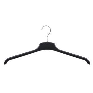 Black plastic non-slip knitwear hanger 46cm 402-328