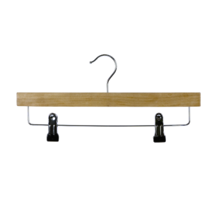 wooden trouser hanger with clips discount 402-629
