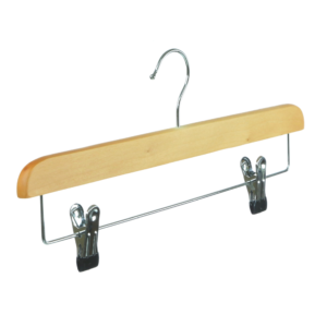 wooden hanger trouser with clips 39cm 402-630