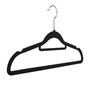 Velvet flocked, slimline knitwear hangers, multiple colours, 42cm 403-140