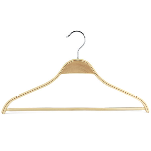 42cm scandi chic wooden suit hanger 402 676 front view