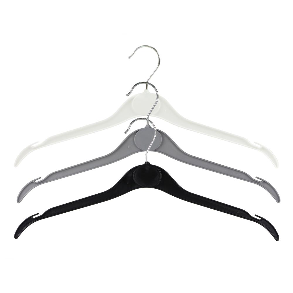 Plastic Coat Hanger White 41cm Ek41