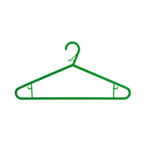 plastic hangers washing line hangers green frontal