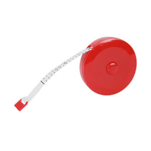 retractable soft tape measure red 358 204