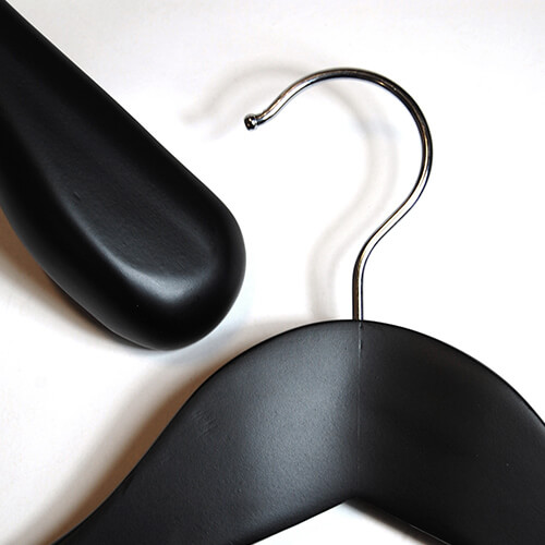 wooden hangers black wood 402 410 close pair middle