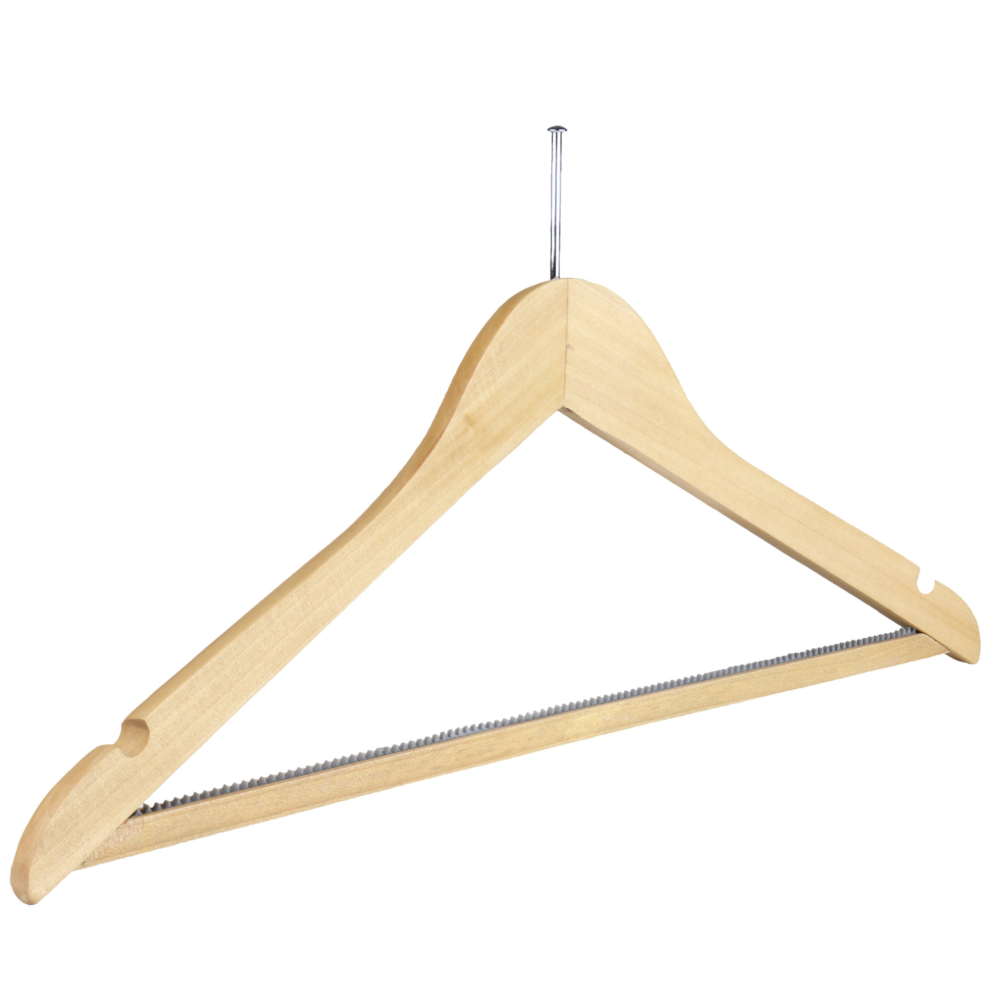 Wooden Hotel Suit Hanger 44cm Natural