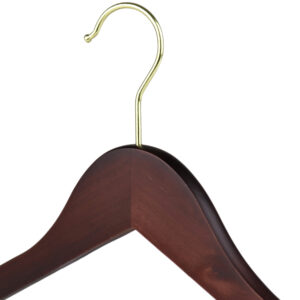 wooden hangers walnut wood 402 770 close up three