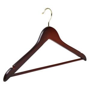Walnut Wooden Hangers Dark Wood Coat Hangers The Hanger Store