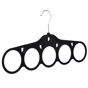 flocked velvet scarf hanger black 403-350