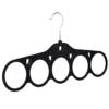 flocked velvet scarf hanger black 403-350