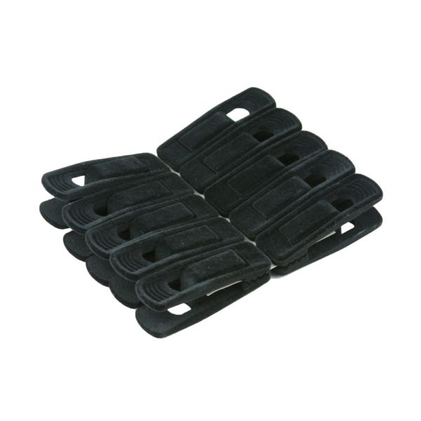 flocked hanger accessory clips for hangers 403-700