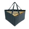 canvas hanger stacker bag black