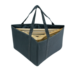 canvas hanger stacker bag black