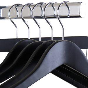 Black Wooden Hangers