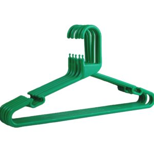 Strong Green Plastic Hanger, Heavy-Duty Multi-Purpose Coat Hanger, 41cm